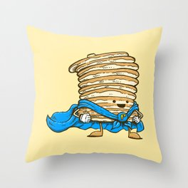 Captain Pancake Throw Pillow