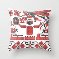 deadmau5 Throw Pillows featuring Ethno DJ by Sitchko Igor