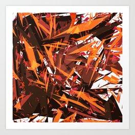 red & spiky Art Print