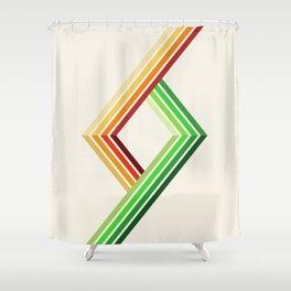 Diagonal Ray 2 Shower Curtain