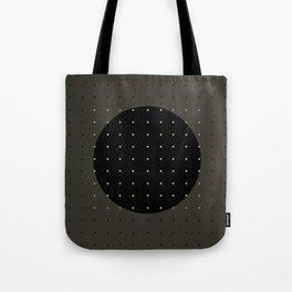 """""""Grey & Polka dots central circle pattern"""" Tote Bag"""