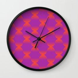 Retro Lava Lamp Vibes Wall Clock