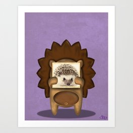 Real Hedgehog Art Print