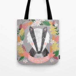 Fall is my Favorite Badger Tote Bag