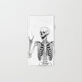 Rock and Roll Skeleton Hand & Bath Towel