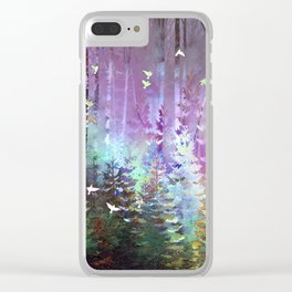 Siberian Summer- Northern Lights Clear iPhone Case