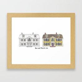 Bee and Thistle Inn Framed Art Print