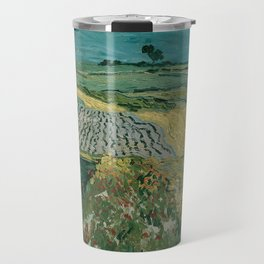 Vincent van Gogh - The Plain of Auvers (1890) Travel Mug