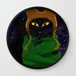 Another Satisfied Yule Cat Wall Clock