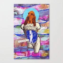 Divine dogs -- Bloodhound Canvas Print