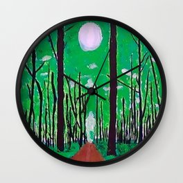 Guiding Spirit of the Forest Wall Clock