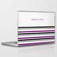 asexual Laptop & iPad Skins featuring Asexual Is Okay by jess