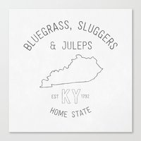 kentucky Canvas Prints featuring Kentucky  by Home State