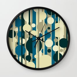 Stripes and circles color mode #5 Wall Clock