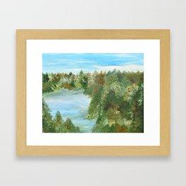Forested Lake Framed Art Print
