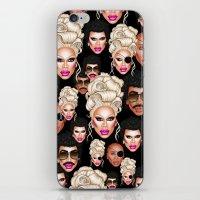 rupaul iPhone & iPod Skins featuring RuPaul Blonde  by dannydax