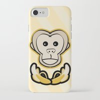 monkey island iPhone & iPod Cases featuring Monkey by Nir P