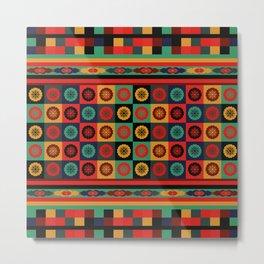 Colorful Bohemian Patchwork Metal Print