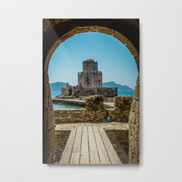 The Methoni Venetian Fortress in the Peloponnese, Messenia, Greece Metal Print