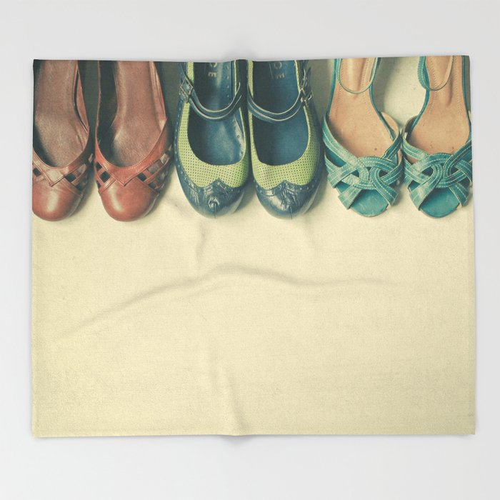 The Shoe Collection Throw Blanket