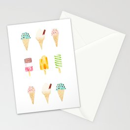 ice cream selection Stationery Cards