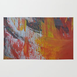 Abstract Paint Swipes Rug