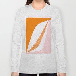Boomerang in Pink and Orange Long Sleeve T-shirt
