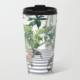 greenhouse illustration Metal Travel Mug