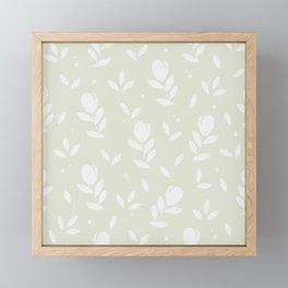Let it bloom with tulips, floral pattern design Framed Mini Art Print