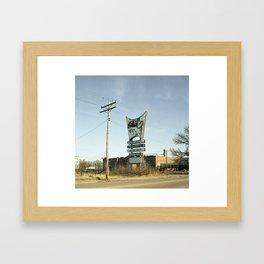 Limo Sign. Framed Art Print