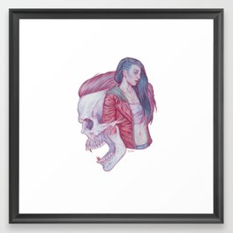 Child and Sire Framed Art Print
