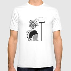 Octopus Salon LARGE White Mens Fitted Tee