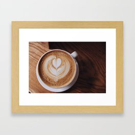 Wake Me When There's Coffee Framed Art Print