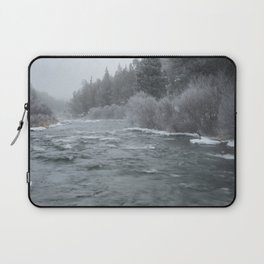 Winter On The Deschutes River Laptop Sleeve