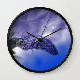 blue summer lilacs Wall Clock