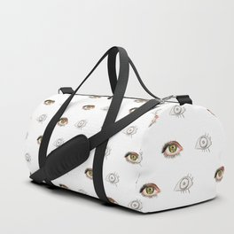 The Other Eye // drawing the reflection pet peeve Duffle Bag