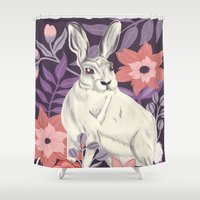hare Shower Curtains featuring Hare by Abbie Imagine