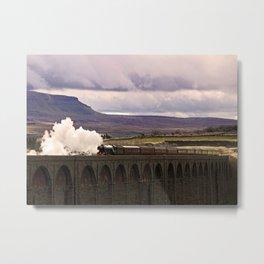 Flying Scotsman at Ribblehead Metal Print