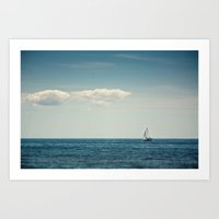 sail Art Prints featuring Sail by Brandy Coleman Ford