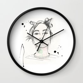 City Chic Fashion Illustration Wall Clock