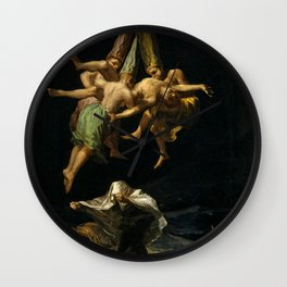 """Francisco Goya """"Witches' Flight also known as Witches in Flight or Witch"""" Wall Clock"""