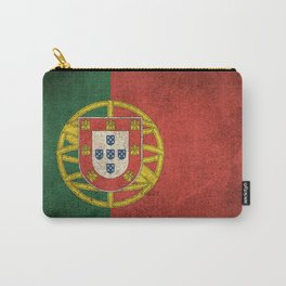 Old and Worn Distressed Vintage Flag of Portugal Carry-All Pouch