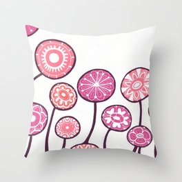 Candy Flowers Throw Pillow