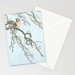 Birds and blossoms Stationery Cards