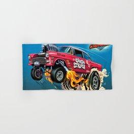Hot Wheels Candy Striper 55 Gasser Poster Hand & Bath Towel