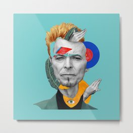 water bowie collage Metal Print