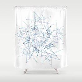 blue espiral Shower Curtain
