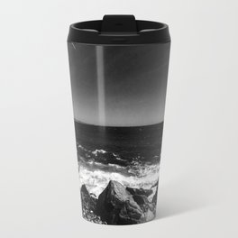 ocean view in black and white Travel Mug