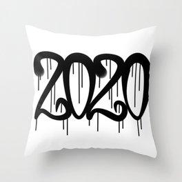 Graffiti It is a Weird Year 2020. Throw Pillow
