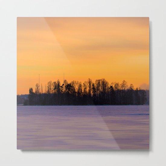 Tree Silhouettes Metal Print